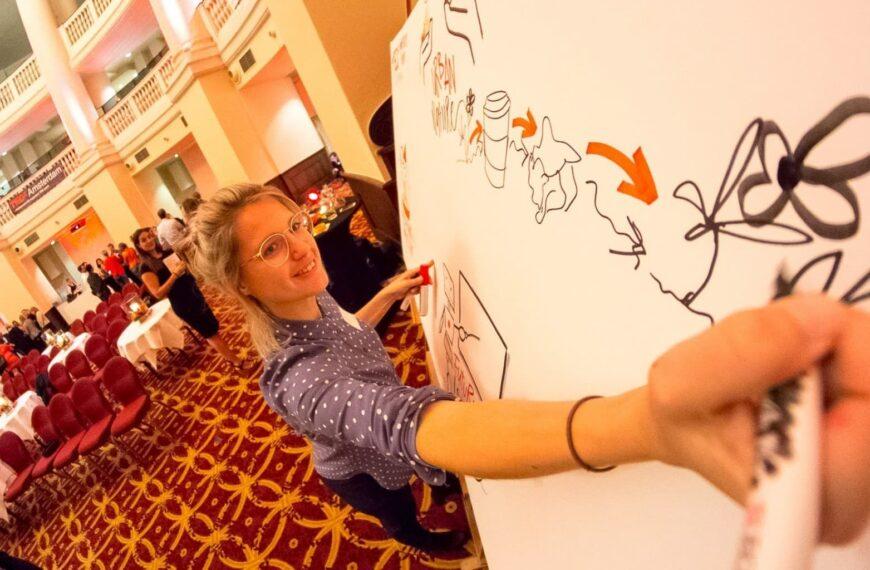 Live tekenen voor TEDx: event visualisatie
